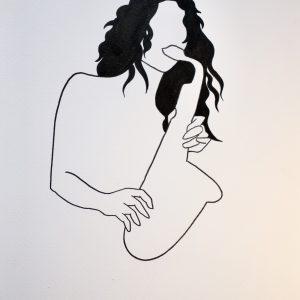 A4 Silvertongue Sax Print Pen & Ink Sketch
